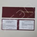 Удостоверение (пропуск) 95х65мм, плоское, бумвинил, с вклейкой