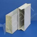Карман - картотека, картон обклеен белой бумагой, коленкор